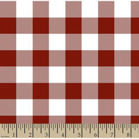 Springs Creative Woven Gingham Check 1' 65/35 Poly/Cotton Fabric by the Yard, Poppy Red, 44/45' Width