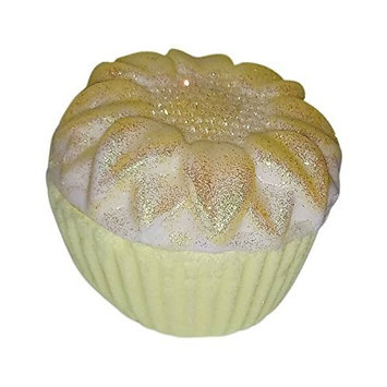 Birthday Cupcake Bath Bomb and Soap Bar with Surprise Ring Inside, Size 7
