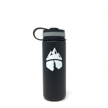 Campsite Essentials 18oz Wide Mouth Insulated Bottle, Midnight Black