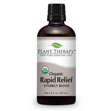 Plant Therapy Rapid Relief Organic Synergy 100 mL (3.3 fl. oz.) 100% Pure, Undiluted, Therapeutic Grade