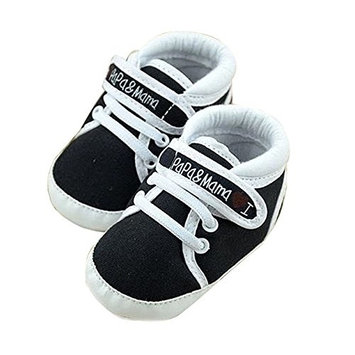 Infant Shoes - TOOGOO(R)Newborn Infant Baby I Love Papa Mama Soft Sole Crip Sport Shoes Sneakers Casual 9~12 Months 13cm black