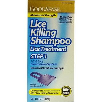 Good Sense Lice Killing Maximum Strength Shampoo, 4 oz - Case of 12