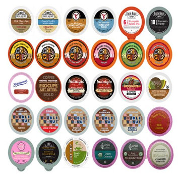 Perfect Samplers Coffee, Tea, Cider, Cappuccino and Hot Chocolate Single Serve Cups For Keurig K Cup Brewers Variety Pack Sampler, 30 Count (Mix Sampler)