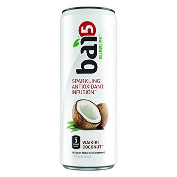 Bai Bubbles, Sparkling Water, Waikiki Coconut Lime, Antioxidant Infused Drinks, 11.5 Fluid Ounce Cans, 12 count [Waikiki Coconut Lime]