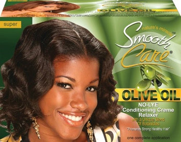 Smoothcare Olive Oil No-Lye Relaxer - Super Kit (Pack of 2)