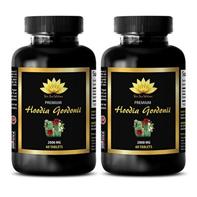 Appetite suppressant supplement - HOODIA GORDONII EXTRACT 2000mg - Natural hoodia - 2 Bottles 120 Tablets
