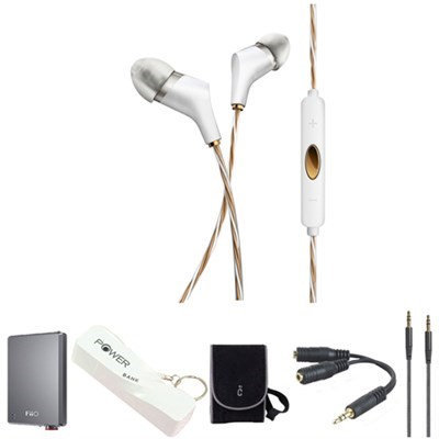 Klipsch X6i In-Ear Headphones (White) with Headphone Kit