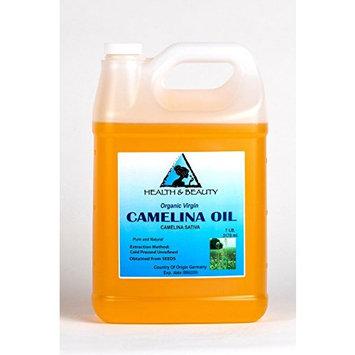 Camelina Oil Unrefined Organic Virgin Raw Cold Pressed Premium Fresh Pure 128 oz, 7 LB, 1 gal