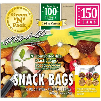 Green'N'Pack 004149 BPA Free Premium Snacking Lifestyle Bags , 150 Count