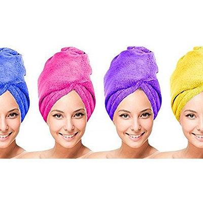 Microfiber Hair Twist Towel Hair Drying Towel Clean Dry - 4 UNITS