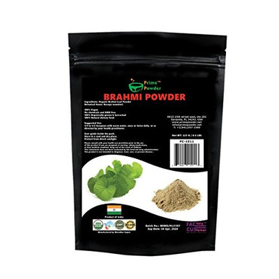 Brahmi Powder 100% Organic fro Prime Powder - USDA Certified - Product of India