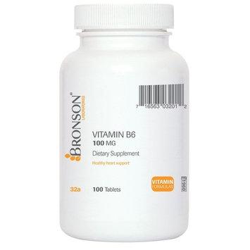 Bronson Vitamin B-6 100 mg, 100 Tablets