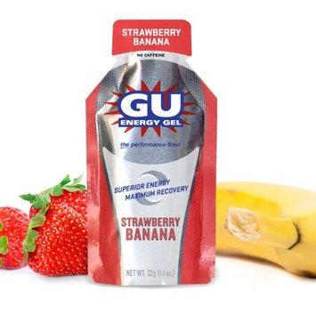 GU Energy Original Sports Nutrition Energy Gel, Strawberry Banana, 8-Count [Strawberry Banana]