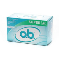 o.b. Non-Applicator Tampons, Value Pack, Super 40 ea