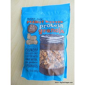 Trader Joe's Peanut Butter Protein Granola 12 Oz (pack of 1)