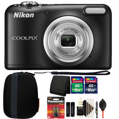 Nikon COOLPIX A10 16.1MP Digital Camera(Black) + Accessories & Extra Batteries