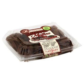 Flax4Life Mini Dark Cherry Brownie Flax Muffins, 14 Oz (Pack of 6)