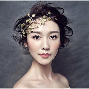 ThyWay Fashion Gold Tone Leaf Headwear Headdress For Women Girls Bridal Wedding
