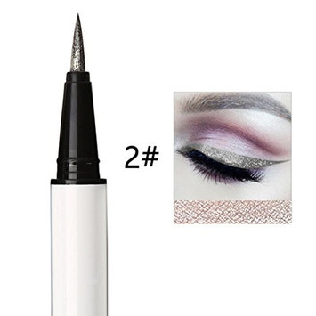 Liquid Glitter Eyeliner DEESEE(TM) HANNIYA 6Color Pearlescent Shiny Smoky Waterproof Black Liquid Eyeline Combination Easy To Wear Makeup Eyeshadow Pen Eyeliner