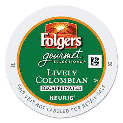 GMT0570 - Folgers Gourmet Selections Lively Colombian Coffee K-Cups; Decaf; 24/Box