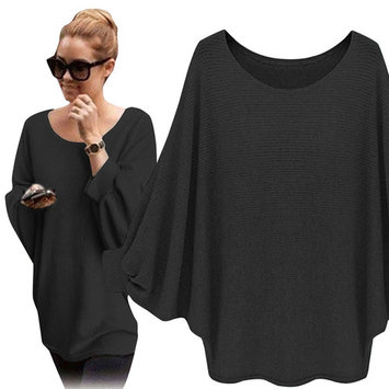 Nlife Women One Size Batwing Knitted Thin Sweater Tops