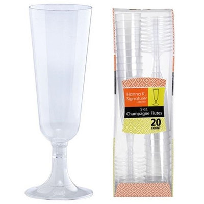Hanna K Signature 2185120 Heavyweight 5 oz Champagne Flute - Pack of 24 & 20 per Pack