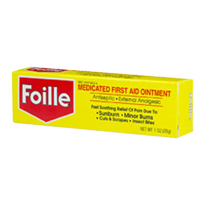 Foille Medicated First-Aid Ointment Tube - 1 Oz, 6 Pack