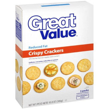 Great Value Reduced Fat Crispy Crackers, 10.80 oz