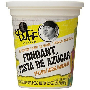 Duff - Buttercream Fondant 2Lb, Yellow