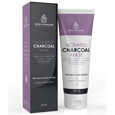 Anti-Aging Face Mask Cream with Activated Charcoal Bentonite Clay and Black Pearl, Remove Blackheads, Eliminate Acnes, Deep Clean Pores, Tightens Skins, Regenerates Cells - 5X Safer than Peel-Off Mask