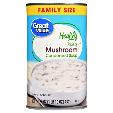 Morgan Foods Inc Great Value Healthy Cream of Mushroom Condensed Soup Family Size, 26 oz