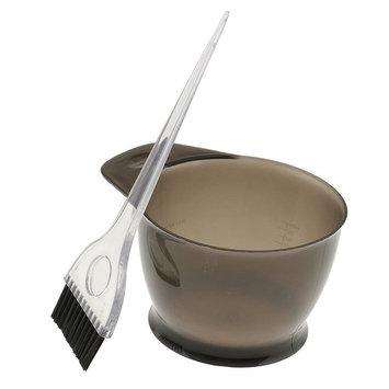 SunniMix Salon Hair Color Dye Bowl Comb Brush Set Hairdressing Tint Bleach Tools - Gray