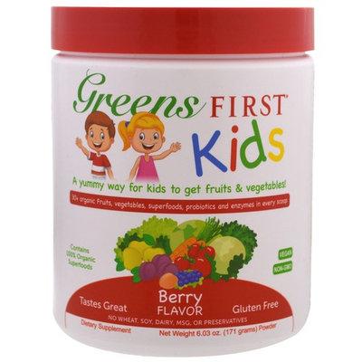Greens First, Kids, Superfood Antioxidant Shake, Berry, 6.03 oz (171 g) [Flavor : Berry]