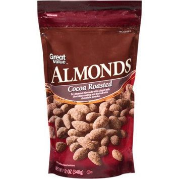 Great Value Cocoa Roasted Almonds, 12 oz
