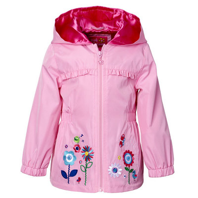 Baby Toddler Girl Floral Applique Windbreaker Jacket [baby_clothing_size: baby_clothing_size-18months]