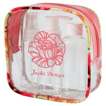 Jacki Design Miss Cherie Travel Bottle Set ((4.92x4.92x1.77) - Coral