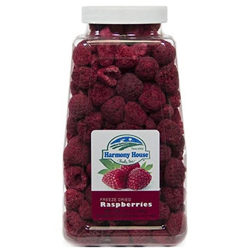 Harmony House Foods Freeze-Dried Whole Raspberries (3.5 oz, Quart Size Jar) - Set of 2