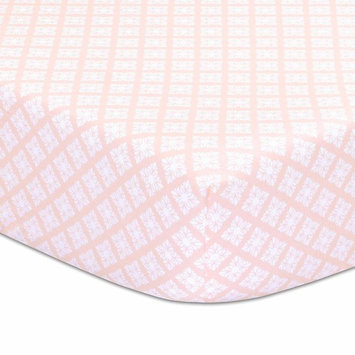 Rose Tile Fitted Baby Crib Sheet from The Peanutshell