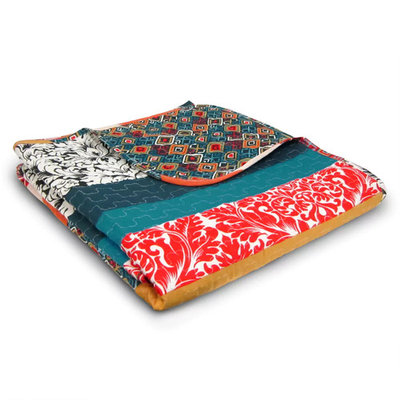 Lush Decor Quilted Reversible Throw