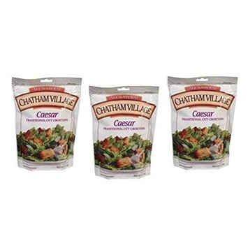 Chatham Village Caesar Traditional Cut Baked Croutons (Pack of 3) 5 oz Bags