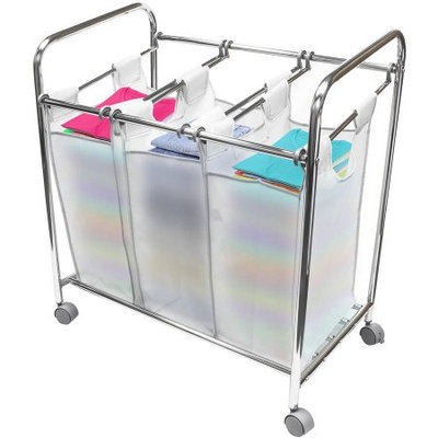 Sorbus Laundry Sorter Cart Basket Hamper on Wheels & Clothes Organizer with 3 Removable Bags
