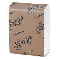 Scott Napkins Low-Fold, White, 1 Ply, Case of 8000