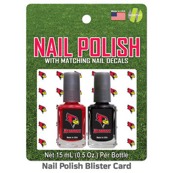 Illinois State Redbirds 2 Pack Nail Polish With Decal - Team Color