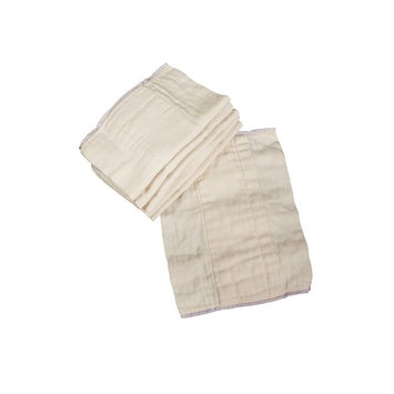 OsoCozy Unbleached Prefold Cloth Diapers – 12 count, Preemie - 2x6x2 (4-10 lbs)
