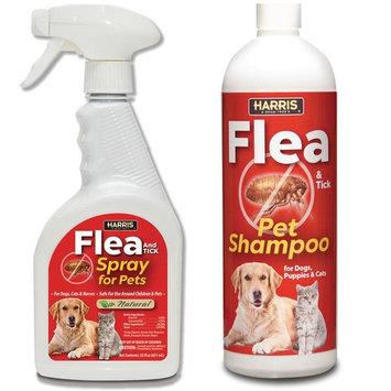 Harris Flea and Tick Spray and Pet Shampoo (Value Pack)
