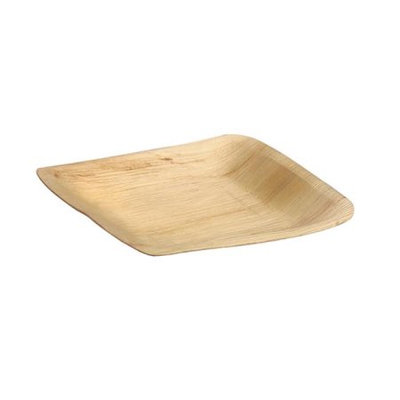 PacknWood Palm Leaf Sqare Plate, 10