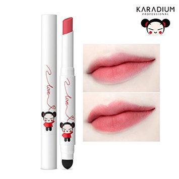 [KARADIUM] PUCCA LOVE EDITION Smudging Velvet Matte Long Lasting Lip Tint Stick 1.4g - 6 Colors (#05 SOFT ROSE) : Beauty