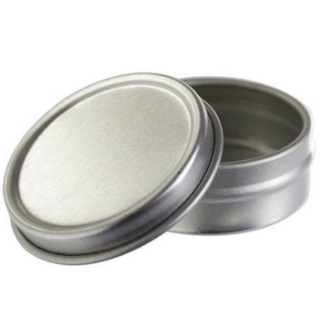 Silver Metal Tin Container with Lid - 0.25 oz (20 Pack)