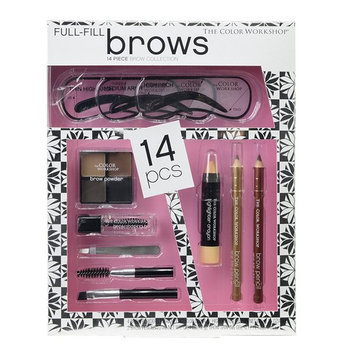 The Color Workshop Full-Fill Brows Complete Brow Set, 14 Count