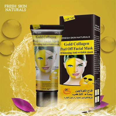 Hunputa 24k Gold Collagen Peel-off Facial Mask Whitening Anti-Wrinkle Face Masks Skin Care Face Lifting Firming Moisturize